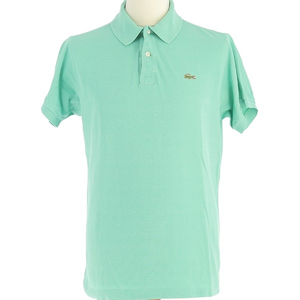 Polo Lacoste vintage vert turquoise clair