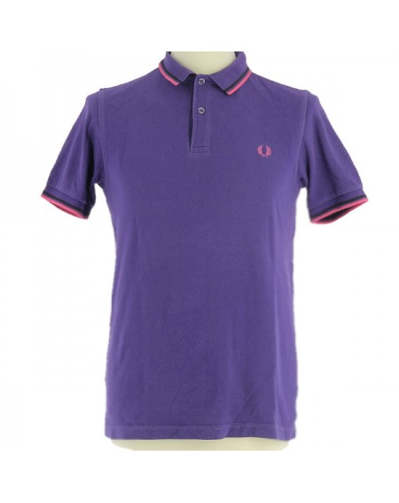 Polo violet vintage rétro Fred Perry