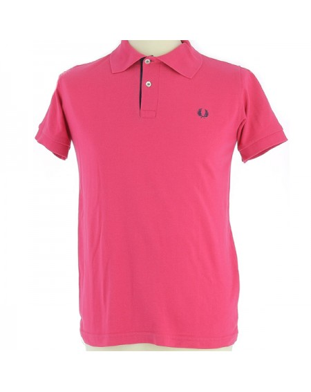 Polo rose vif vintage rétro Fred Perry