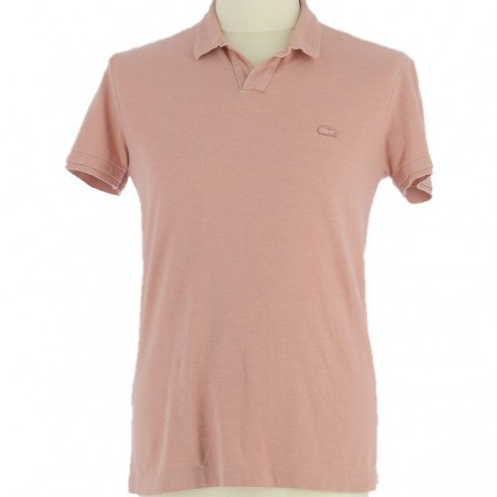 Polo Lacoste rose clair vintage